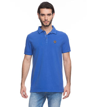 Solid Polo T-Shirt, s,  royal blue