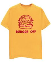 Champu Burger Off Men's T-Shirt CHMP_ MT_ 23, Yellow, L