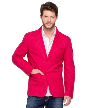 Fashion Regular Blazer Jacket,  red, m