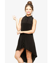 Miss Chase Hit 'Em High Uneven Hem Dress (MCPF13D02-08-62), Black, S