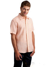 Yepme Linen Orange Stripes Half Sleeve Shirt