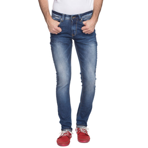Skinny Low Rise Narrow Fit Jeans,  mid blue, 28