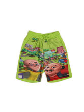 Motu Patlu Boy's printed Bermuda, lemon green, 9 10 years
