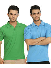 Lime Offers Combo of 2 Men's Polo T-Shirts, multicolor, xl