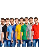 lime combo of 8 polo tshirts, l