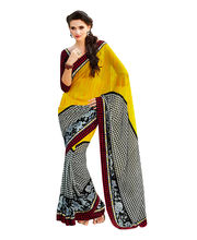 Fabdeal Party Wear Georgette Saree(OKQSR1405ASE), Yellow