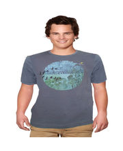 Do U Speak Green Earth Balance Mens Crew Neck T-Shirt - DUSG173MB, Blue, S