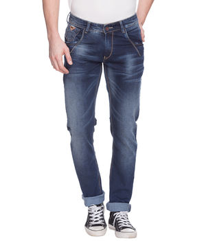 Skinny Low Rise Narrow Fit Jeans, 36,  mid blue