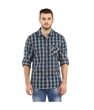Checks Regular Shirt, xl,  blue