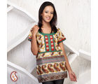 Paisley Print Kurti With Gota Work, multicolor, m