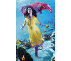 Yellow Purple Churidar Salwar Kameez (Multicolor)