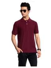 Brohood Honey Comb Men Polo Neck T-Shirt - BHT6003, s, maroon