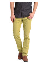 Good Karma Men Cotton Jeans - GKJ817, 36, khaki