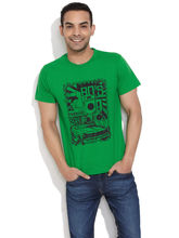 Stitche Cool Graphic Printed Tee, green, m