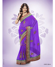 Touch Trends Pure Georgette Designer Sarees - 252_ A, Voilet