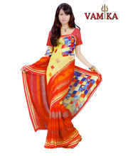 Vamika Printed Georgette Saree-VMS0098, Multicolor