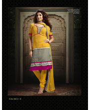 Touch Trends Chanderi Salwar Suit Material - 38012-B, Yellow