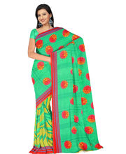 Designer Art Silk Saree With Unstitched Blouse - 30799-GR, Green