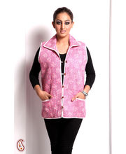 Light Pink And Mauve Pure Cotton Quilted Jacket (Multicolor, M)