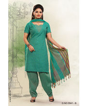 Touch Trends Pure Cotton Dress Material - 5541B, Green