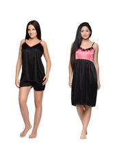 Klamotten Babydoll Combo Pack Of Two (Pink & Black)