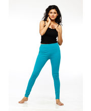 French Trendz Ankle Length Legging - LGALCTSD2, Turquoise, S