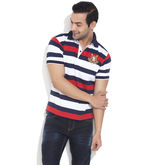 TAANZ Polo Tee With Stripes, dark blue, 2l