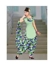 Delhiseven Patiala Dress Material-D7-USU-03, Light Green