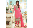 Hypnotex Embroidery Pure Georgette Dress materials Drops2213, multicolor