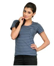 Yepme Olivia Stylish Stripes Top YPMTOPS0154, Grey, Xl