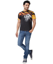 Do U Speak Green Tiger Stripes Mens Organic T-Shirt - DUSG111Nat, Black, Xl