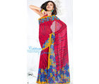Mahek Georgette Printed Saree 2371B (Multicolor)
