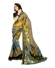 Fabdeal Casual Wear Georgette Saree (LKPSR1360SE), Multicolor