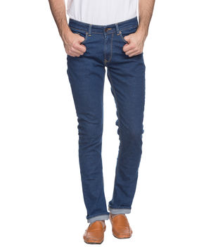 Regular Low Rise Narrow Fit Jeans,  mid blue, 30