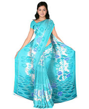 Designer Art Silk Saree With Unstitched Blouse - 27357-BL, Blue
