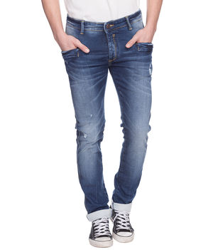 Slim Low Rise Narrow Fit Jeans, 28,  dark blue