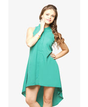 Miss Chase Hit 'Em High Uneven Hem Dress (MCPF13D02-08-14), Green, M