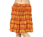 Ethnic Designer Sanganeri Cotton Short Skirt -124 (Multicolor)