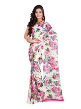 Aamna Printed Saree For Women - QXESR9097BOC, multicolor