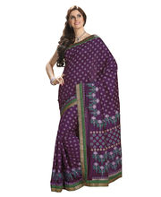 Ashika Raw Silk Saree - ASH2088, purple