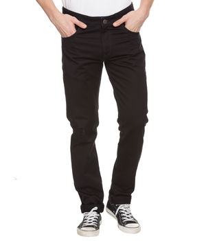 Printed Bone Pocket Chinos, 36,  black