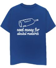 Champu Alcohol Research Men's T-Shirt CHMP_ MT_ 08, Blue, S