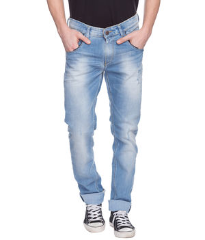 Slim Low Rise Narrow Fit Jeans,  light blue, 32