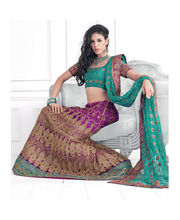 Hypnotex Cotton Designer Lengha Choli XLNC8009A, Multicolor