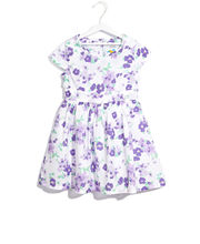SCULLERS KIDS Floral Printed Dress, purple, xl