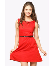 Miss Chase Peter Pan Collar Dress (MCPF13D01-01-64-64), Red, Xs