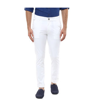 Cross Pocket Slim Fit Trouser, 34,  white