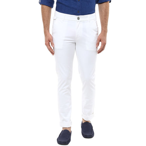 Cross Pocket Slim Fit Trouser, 30,  white