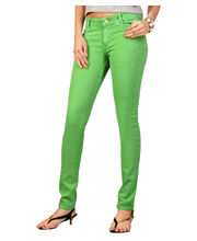 Fungus Women Denim Jeans - FJL-007, Green, 32