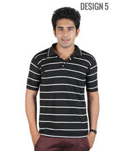 DAndY Single Polo T-shirt With Stripes, Multicolor, M, Design5